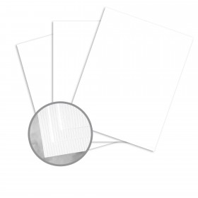 CLASSIC Laid Avalanche White Card Stock - 35 x 23 in 80 lb Cover Laid 500 per Carton