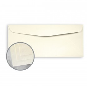 CLASSIC Laid Baronial Ivory Envelopes - No. 10 Commercial (4 1/8 x 9 1/2) 24 lb Writing Imaging Laid Watermarked 500 per Box