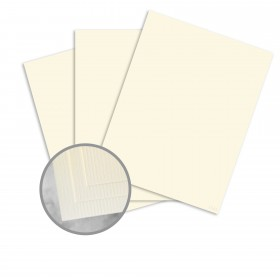 CLASSIC Laid Baronial Ivory Card Stock - 35 x 23 in 80 lb Cover Laid 500 per Carton