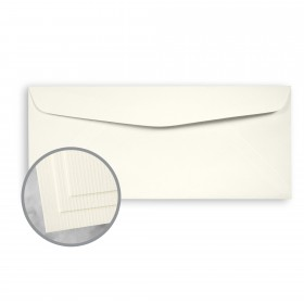 CLASSIC Laid Classic Natural White Envelopes - No. 10 Commercial (4 1/8 x 9 1/2) 24 lb Writing Imaging Laid Watermarked 500 per Box