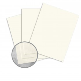 CLASSIC Laid Classic Natural White Card Stock - 8 1/2 x 11 in 80 lb Cover Laid 250 per Package