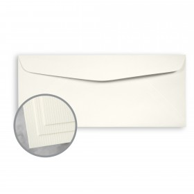 CLASSIC Laid Recycled Natural White Envelopes - No. 10 Commercial (4 1/8 x 9 1/2) 75 lb Text Laid  100% Recycled 2500 per Carton