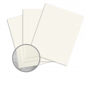 CLASSIC Laid Recycled Natural White Card Stock - 26 x 40 in 80 lb Cover Laid  100% Recycled 300 per Carton