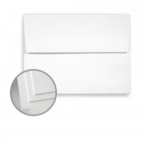 CLASSIC Linen Avalanche White Envelopes - A7 (5 1/4 x 7 1/4) 80 lb Text Linen 250 per Box