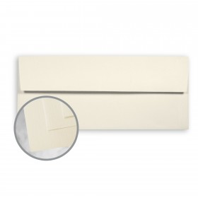 CLASSIC Linen Baronial Ivory Envelopes - No. 10 Square Flap (4 1/8 x 9 1/2) 24 lb Writing Linen Watermarked 500 per Box
