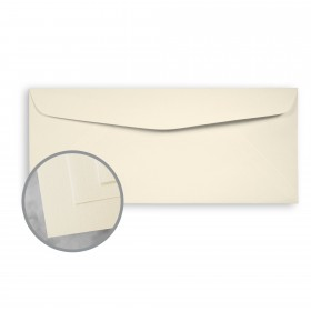 CLASSIC Linen Baronial Ivory Envelopes - No. 10 Commercial (4 1/8 x 9 1/2) 70 lb Text Linen 500 per Box