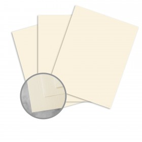 CLASSIC Linen Baronial Ivory Paper - 8 1/2 x 11 in 24 lb Writing Linen  30% Recycled Watermarked 500 per Ream