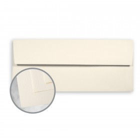 CLASSIC Linen Classic Natural White Envelopes - No. 10 Square Flap (4 1/8 x 9 1/2) 24 lb Writing Linen Watermarked 500 per Box