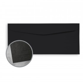 CLASSIC Linen Epic Black Envelopes - No. 10 Commercial (4 1/8 x 9 1/2) 80 lb Text Linen  30% Recycled 2500 per Carton