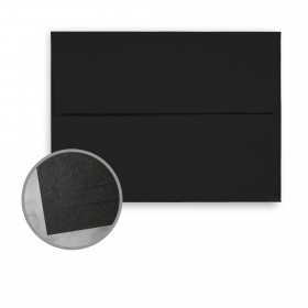 CLASSIC Linen Epic Black Envelopes - A7 (5 1/4 x 7 1/4) 80 lb Text Linen  30% Recycled 250 per Box
