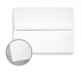 CLASSIC Linen Recycled 100 Bright White Envelopes - A7 (5 1/4 x 7 1/4) 80 lb Text Linen  100% Recycled 1000 per Carton
