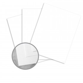 CLASSIC Linen Recycled 100 Bright White Card Stock - 8 1/2 x 11 in 80 lb Cover Linen  100% Recycled 250 per Package