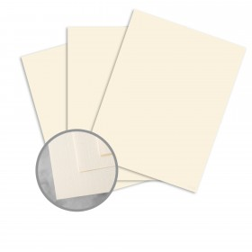 CLASSIC Linen Recycled 100 Natural White Card Stock - 26 x 40 in 80 lb Cover Linen  100% Recycled 300 per Carton
