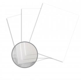 CLASSIC Linen Solar White Card Stock - 18 x 12 in 80 lb Cover Linen 250 per Package
