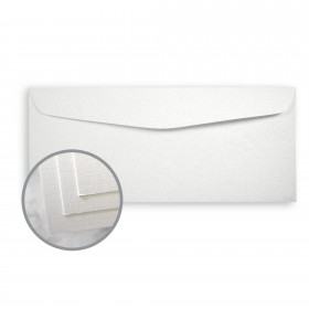 CLASSIC Linen White Pearl Envelopes - No. 10 Commercial (4 1/8 x 9 1/2) 80 lb Text Linen C/2S 500 per Box