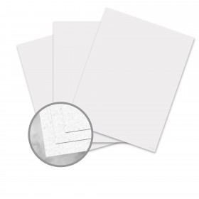 CLASSIC Linen Whitestone Card Stock - 8 1/2 x 11 in 80 lb Cover Linen 250 per Package