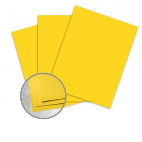 Colorplan Factory Yellow Card Stock - 25 x 38 in 100 lb Cover Vellum 100 per Package