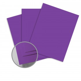 Colorplan Purple Card Stock - 25 x 38 in 130 lb Cover Vellum 100 per Package