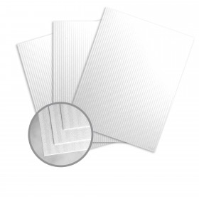Pearlescents Pearlescent White Paper - 12 x 12 in 78 lb Text Stripe C/1S 25 per Package