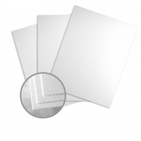 Pearlescents Pearlescent White Paper - 8 1/2 x 11 in 78 lb Text Diamante C/1S 25 per Package