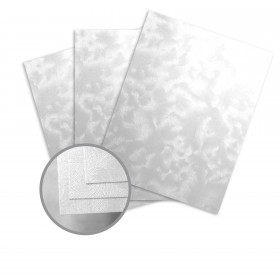 Pearlescents Pearlescent White Paper - 8 1/2 x 11 in 78 lb Text Swirl C/1S 25 per Package