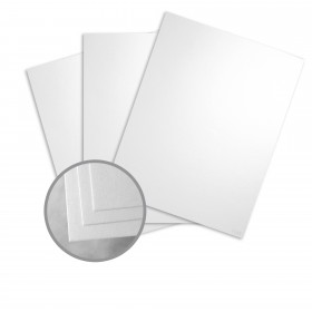 Pearlescents Pearlescent White Paper - 8 1/2 x 11 in 78 lb Text Opaline C/1S 25 per Package