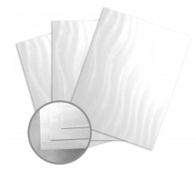 Constellation Jade Silver Card Stock - 8 1/2 x 11 in 80 lb Cover Wave C/1S 250 per Package
