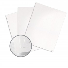 Construction Recycled White Card Stock - 26 x 40 in 80 lb Cover Vellum  100% Recycled 500 per Carton