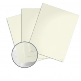 Construction Whitewash Card Stock - 8 1/2 x 11 in 80 lb Cover Vellum  100% Recycled 250 per Package