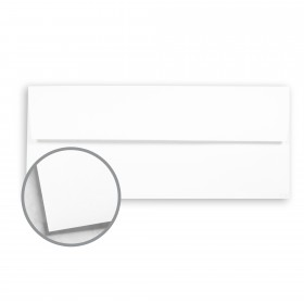 Cougar White Envelopes - No. 10 Square Flap (4 1/8 x 9 1/2) 60 lb Text Vellum 10% Recycled 500 per Box