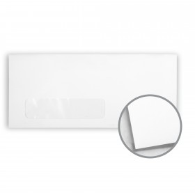 Cougar White Envelopes - No. 10 Window (4 1/8 x 9 1/2) 60 lb Text Vellum 10% Recycled 500 per Box