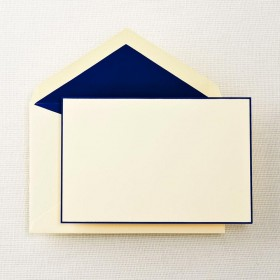 Crane & Co. Regent Blue Bordered Correspondence Card