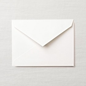 Crane & Co. Pearl White Kid Finish Embassy Envelope