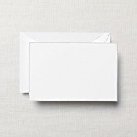 Crane & Co. Platinum Bordered White Correspondence Card