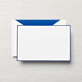 Crane & Co. Regent Blue Bordered White Correspondence Card