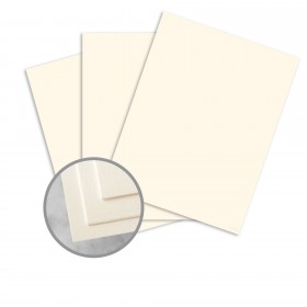 CRANE'S CREST Ecru White Paper - 26 x 40 in 134 lb Cover DT Kid  100% Cotton 100 per Carton