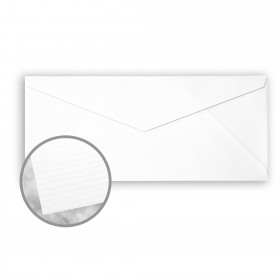 CRANE'S CREST Fluorescent White Envelopes - No. 10 V-Flap (4 1/8 x 9 1/2) 24 lb Writing Laid  100% Cotton Watermarked 500 per Box