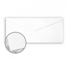 CRANE'S CREST Fluorescent White Envelopes - No. 10 V-Flap (4 1/8 x 9 1/2) 28 lb Writing Wove  100% Cotton Watermarked 500 per Box