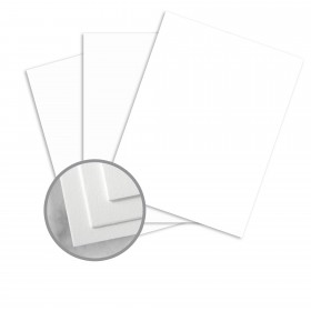 Neenah Cotton Fluorescent White Paper - 8 1/2 x 11 in 134 lb Cover DT Wove 100% Cotton 125 per Package