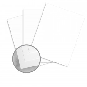 Neenah Cotton Fluorescent White Card Stock - 8 1/2 x 11 in 90 lb Cover Smooth 100% Cotton 125 per Package