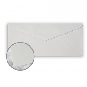 CRANE'S CREST Moonstone Grey Envelopes - No. 10 V-Flap (4 1/8 x 9 1/2) 24 lb Writing Wove  100% Cotton Watermarked 500 per Box