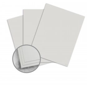 CRANE'S CREST Moonstone Grey Card Stock - 26 x 40 in 90 lb Cover Smooth  100% Cotton 200 per Carton