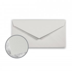 CRANE'S CREST Moonstone Grey Envelopes - Monarch (3 7/8 x 7 1/2) 24 lb Writing Wove  100% Cotton Watermarked 500 per Box