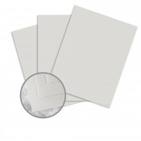 CRANE'S CREST Moonstone Grey Paper - 8 1/2 x 11 in 24 lb Writing Wove  100% Cotton Watermarked 500 per Ream