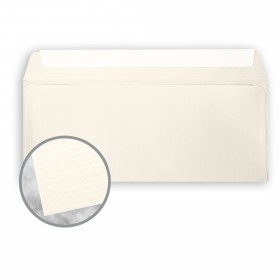 CRANE'S CREST Natural White Envelopes - No. 10 Commercial Peel & Seal (4 1/8 x 9 1/2) 24 lb Writing Laid  100% Cotton 500 per Box