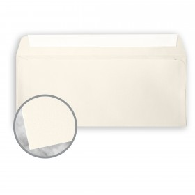 CRANE'S CREST Natural White Envelopes - No. 10 Commercial Peel & Seal (4 1/8 x 9 1/2) 24 lb Writing Wove  100% Cotton Watermarked 500 per Box