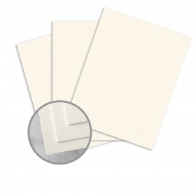 CRANE'S CREST Natural White Paper - 26 x 20 in 134 lb Cover DT Kid  100% Cotton 100 per Carton