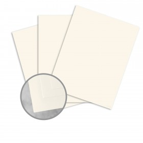 CRANE'S CREST Natural White Card Stock - 26 x 40 in 90 lb Cover Smooth  100% Cotton 200 per Carton