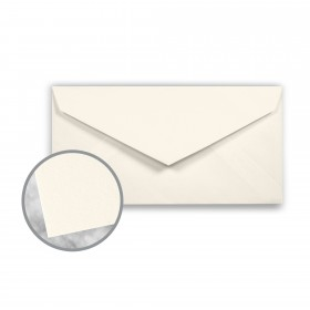 CRANE'S CREST Natural White Envelopes - Monarch (3 7/8 x 7 1/2) 24 lb Writing Wove  100% Cotton Watermarked 500 per Box