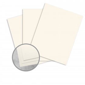CRANE'S CREST Natural White Paper - 8 1/2 x 11 in 24 lb Writing Laid  100% Cotton Watermarked 500 per Ream